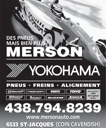 Merson (514-487-5545) - Display Ad - www.mersonauto.com (COIN CAVENDISH) 6533 ST-JACQUES 438.794.8239