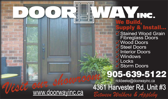 Door Way Inc (905-639-5122) - Annonce illustrée======= -