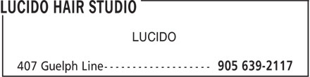 Lucido Hair Studio (905-639-2117) - Display Ad - LUCIDO