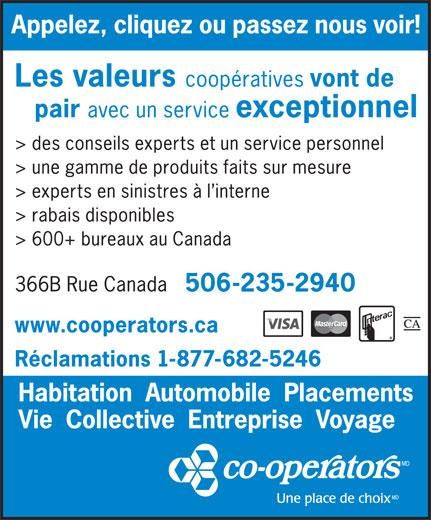 The Co-operators (506-235-2940) - Annonce illustrée======= -