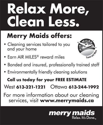 Merry Maids (613-244-1992) - Annonce illustrée======= -
