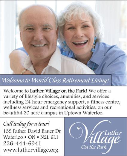 Luther Village On The Park (519-783-3710) - Annonce illustrée======= -