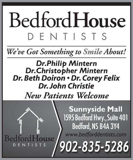 Bedford House Dentists (902-835-5286) - Annonce illustrée======= - New Patients Welcome
