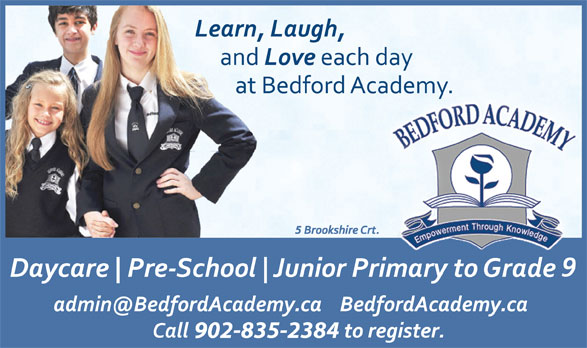 Bedford Academy (902-835-2384) - Display Ad - 902-835-2384