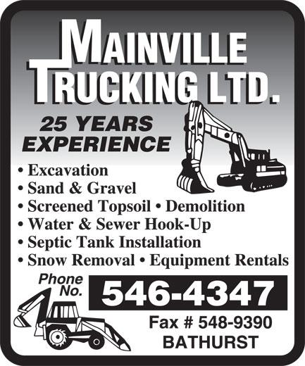 Mainville Trucking Ltd (506-546-4347) - Display Ad -