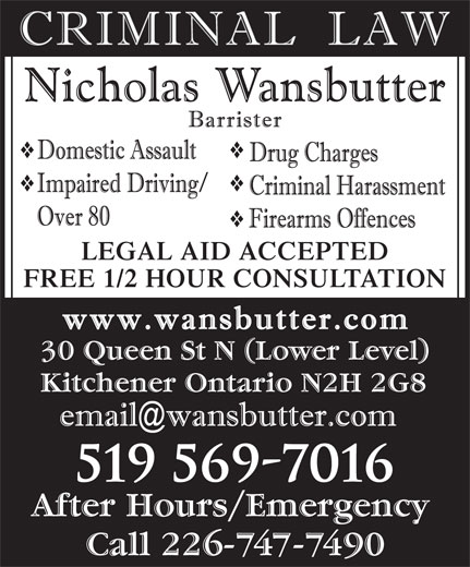 Legal Aid Lawyers Kitchener Ontario