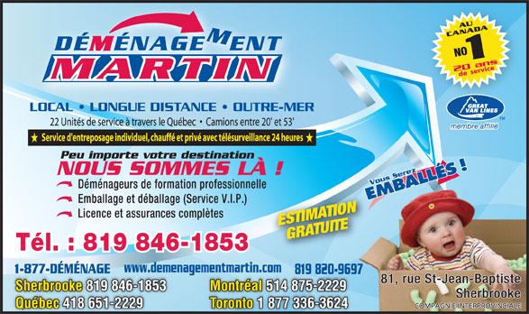 Ads Déménagement Martin Inc