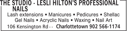 The Nail Studio - Lashes, Waxing, & Toes (902-566-1174) - Annonce illustrée======= -