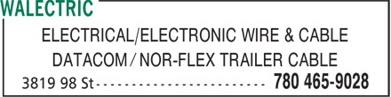 Walectric (780-465-9028) - Annonce illustrée======= - ELECTRICAL/ELECTRONIC WIRE & CABLE DATACOM / NOR-FLEX TRAILER CABLE ELECTRICAL/ELECTRONIC WIRE & CABLE DATACOM / NOR-FLEX TRAILER CABLE