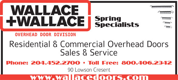 Wallace & Wallace Fences and Doors (204-452-2700) - Display Ad -