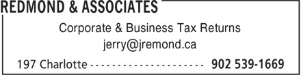 Redmond & Associates (902-539-1669) - Annonce illustrée======= - Corporate & Business Tax Returns