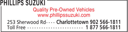 Phillips Suzuki (902-566-1811) - Annonce illustrée======= - Quality Pre-Owned Vehicles www.phillipssuzuki.com