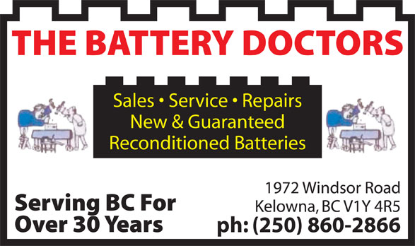 Battery Doctors The Kelowna Bc 1972 Windsor Rd