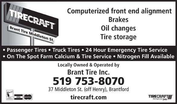 Tirecraft (519-753-8070) - Display Ad -