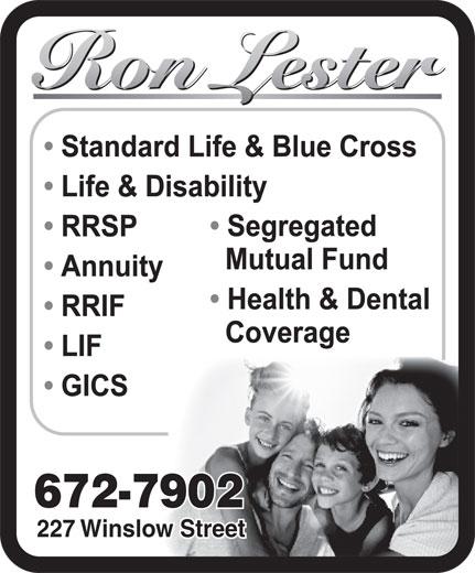 Ron Lester (506-672-7902) - Annonce illustrée======= - 672-7902 227 Winslow Street