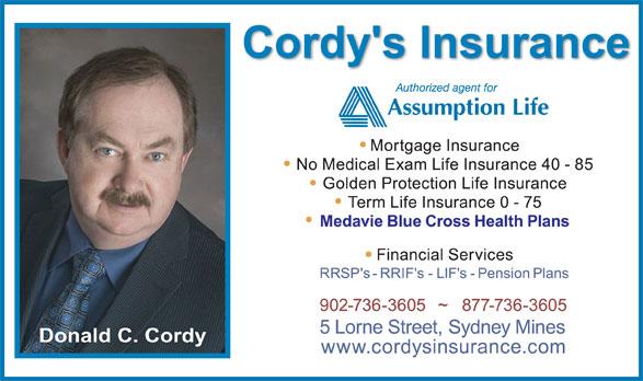 Cordy's Insurance (902-736-3605) - Annonce illustrée======= -