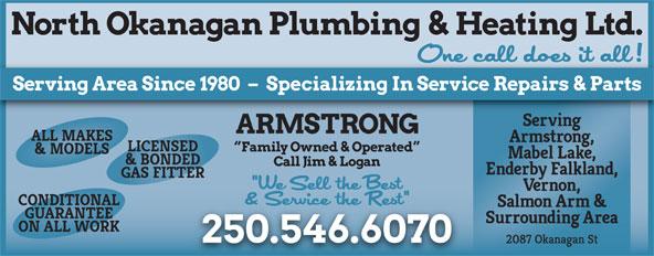 North Okanagan Plumbing & Heating Ltd (250-546-6070) - Display Ad -
