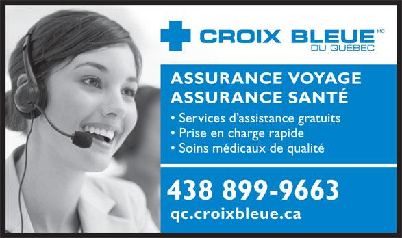 Croix Bleue (514-286-7658) - Annonce illustrée======= -