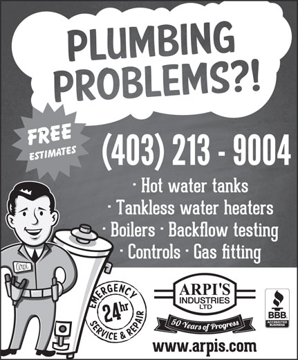 Arpi's Industries Ltd (403-236-2444) - Display Ad -