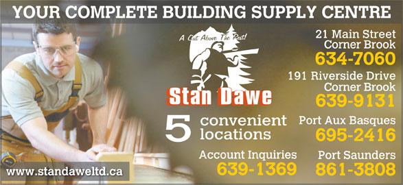 Stan Dawe Limited Corner Brook Nl 191 Riverside Dr