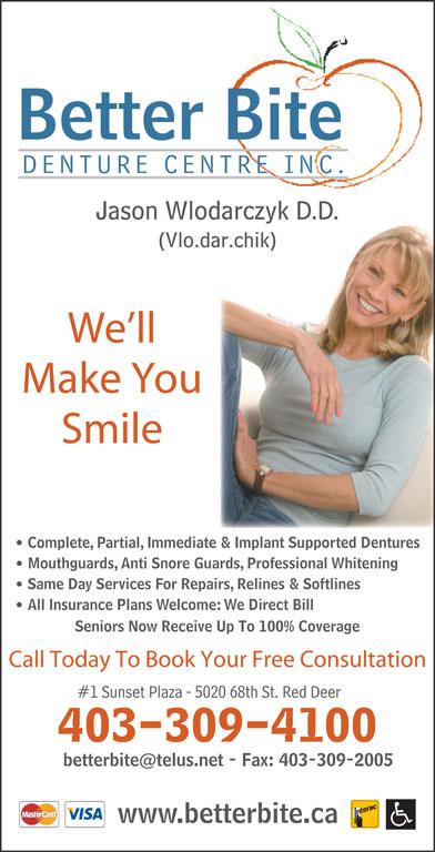 Better Bite Denture Centre Inc (403-309-4100) - Display Ad - Better Bite