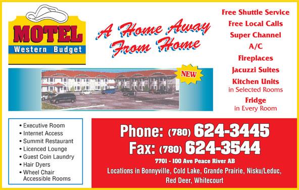 Western Budget Motel (780-624-3445) - Display Ad -