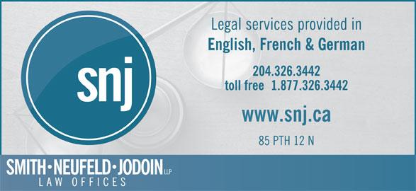 Smith Neufeld Jodoin LLP (204-326-3442) - Display Ad -