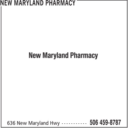 New Maryland Pharmacy (506-459-8787) - Display Ad -