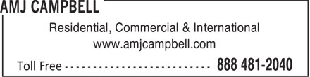 AMJ Campbell Van Lines (1-888-481-2040) - Display Ad - www.amjcampbell.com Residential, Commercial & International