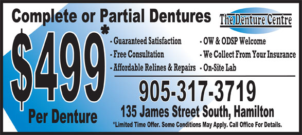 The Denture Centre (905-317-3719) - Display Ad -
