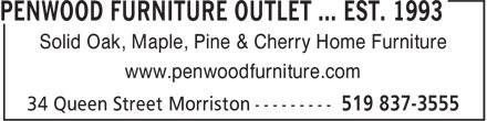 Penwood Furniture Outlet ... est. 1993 (519-837-3555) - Annonce illustrée======= -