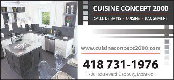 cuisine concept 2000 mont joli qc 1700 boul benoit
