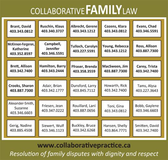Collaborative Law (403-343-0717) - Annonce illustrée======= -