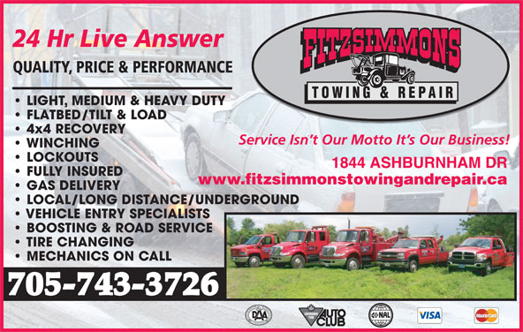 Fitzsimmons Towing Amp Repair Opening Hours 1844