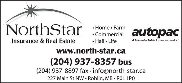 NorthStar Insurance & Real Estate (204-937-8357) - Display Ad - NorthStar