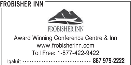 Frobisher Inn (867-979-2222) - Display Ad -