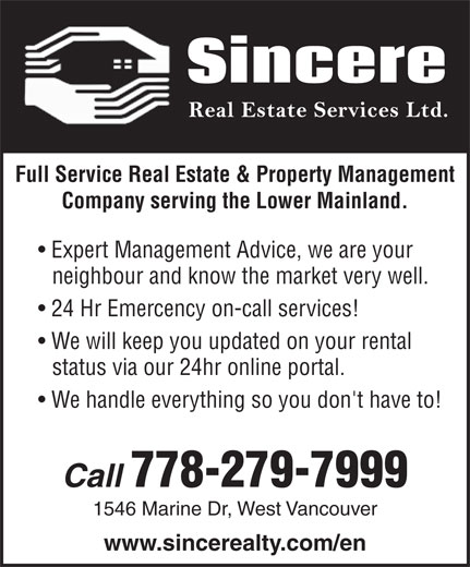 Real Estate Companies That Rent: Sincere Real Estate Services Ltd
