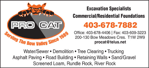 Procat Contracting Ltd (403-678-7882) - Annonce illustrée======= -