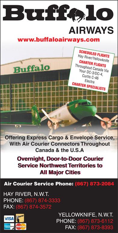 Buffalo Airways Ltd (867-874-3333) - Annonce illustrée======= -