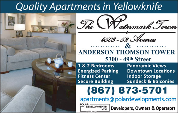 Anderson Thomson Tower (867-873-5701) - Display Ad -