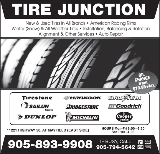 Tire Junction - 11221, Highway 50, Bolton, ON