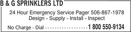 Ads B&G Sprinklers Ltd