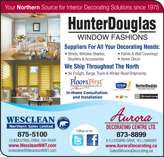 Wesclean Northern Sales Ltd (867-875-5100) - Annonce illustrée======= -