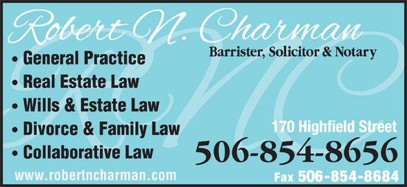 Charman Robert N (506-854-8656) - Display Ad -