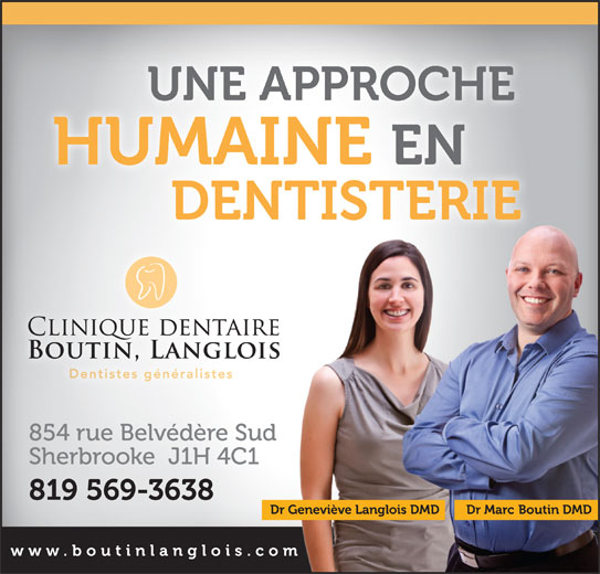 Boutin Langlois Dentistes (819-569-3638) - Annonce illustrée======= -