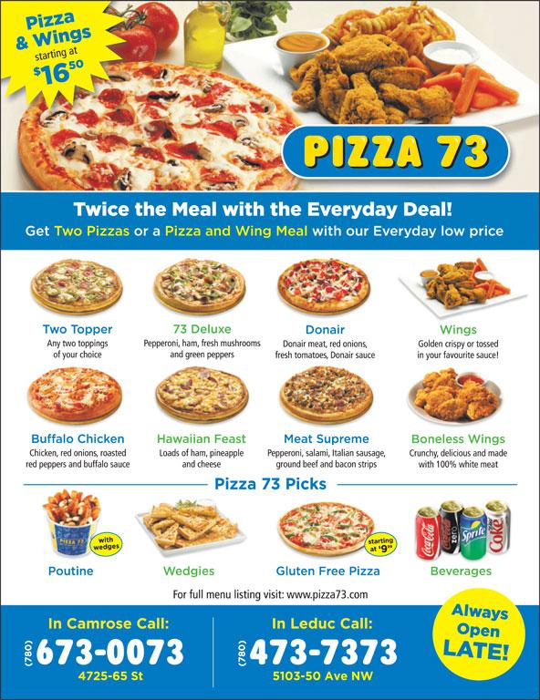 Pizza 73 (780-473-7373) - Display Ad -
