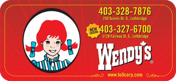 Wendy's (403-328-7876) - Display Ad -