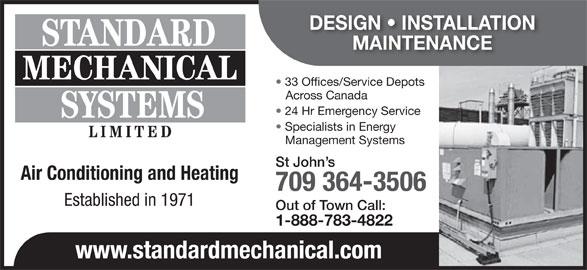 H R Mechanical Newfoundland Standard Mechanical Systems