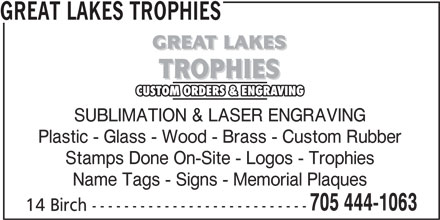 Ads Great Lakes Trophies