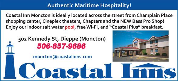Coastal Inn Champlain (506-857-9686) - Annonce illustrée======= - 506-857-9686